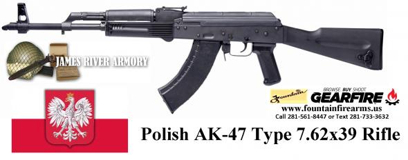 Super Hot 2020!!! James River Armory  Polish AK47 7.62x39 30 Round Rifle 💲💲Cash $619.95💲💲