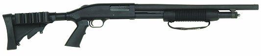 "Mossberg 500 Special Purpose Tactical Pump Action Shotgun 12 Gauge 20"" Barrel 5 Rounds Adjustable Stock Black Finish 50420"