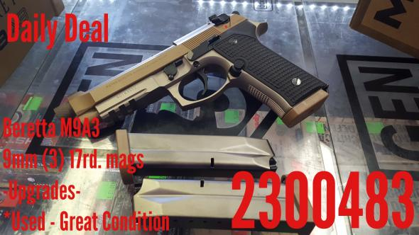Daily Deal Beretta M9A3 *used- Upgrades