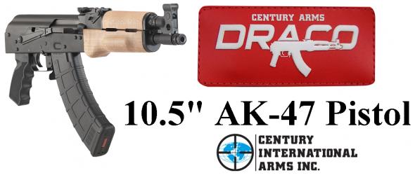 "Century US Draco AK-47 Pistol, 762X39, 10.5"" Barrel, Steel Frame, Black Finish, 30Rd 💲💲Cash $689.95💲💲"