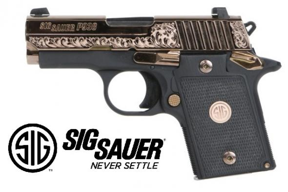 "Golden!!! Sig Sauer, P238, Rose Gold, Semi-automatic Pistol, Single Action, Compact, 380ACP, 2.7"", Alloy Frame, Rose Gold Finish, Black G10 Grips, 6Rd, SIGLITE Night Sights  💲💲Cash $789.95💲💲"