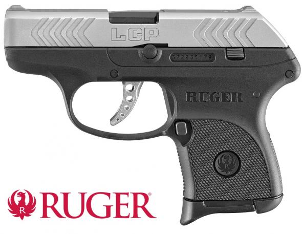 "Pocket Rocket!!! Ruger, LCP Silver 380 ACP, 2.75"" Barrel, Polymer Frame, Two-Tone Finish, 6Rd, 1 Mag, Weighs 9.6oz, Integral Sights💲💲$249.95💲💲"