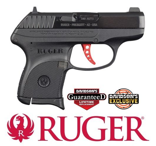 "Exclusive Build!!! Ruger LCP Custom Build Red-Anodized Skeletonized Aluminum Trigger 380 ACP, 2.75"" Barrel, 6+1 Rounds, Davidson's Exclusive 💲💲Cash$269.95 💲💲"