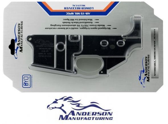 Anderson Manufacturing AR-15 Stripped Lower Receiver, Multi-Caliber, Mil-Spec, Aluminum, Matte Black 💲💲Cash $56.95 💲💲