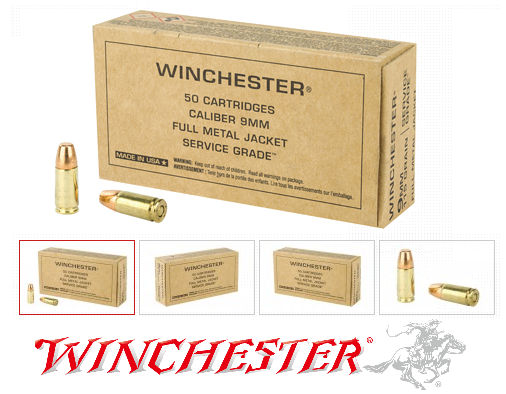 New Service Grade!!! Winchester 9mm Luger Ammunition 50 Rounds Service Grade FMJFN 115 Grains 💲💲Cash $10.44💲💲 Part of the Victory Series