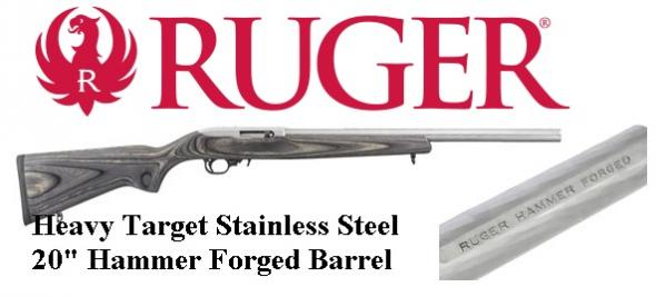 "Ruger 1262 10/22 Semi-Automatic 22 Long Rifle 20"" Black Laminate Stainless Barrel 💲💲$499.95💲💲"