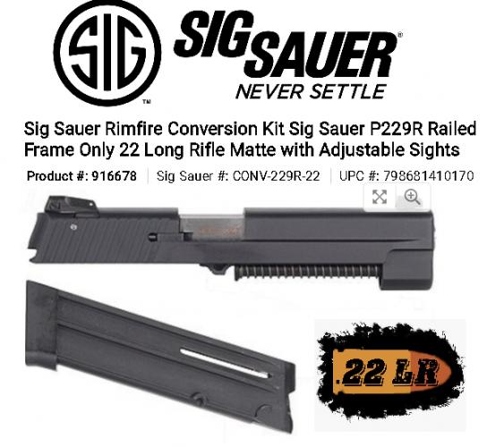 Display Unit!!! Sig Sauer CONV229R22 P226 Conversion Kit 💲💲Cash $199.95💲💲