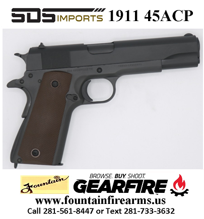 Super Hot 2020!!! SDS 1911A1 45ACP US ARMY 5 FULL SIZE WWII MODEL 💲💲Cash $349.95💲💲