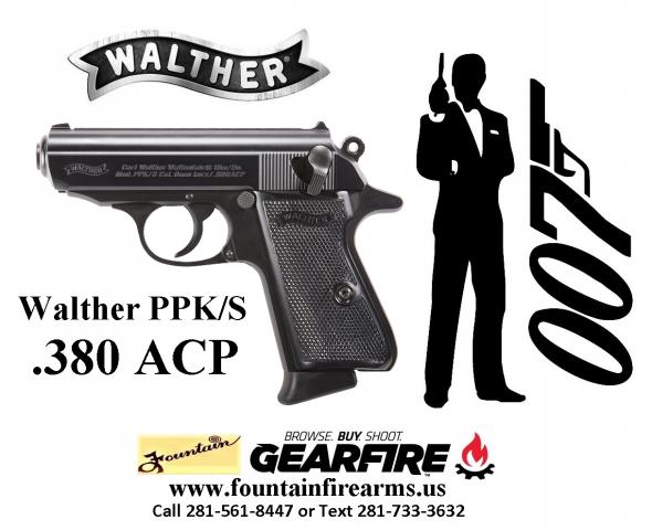 Super Hot 2020!!! Walther PPK/S .380 ACP 3.3 Inch Barrel Black Frame Black Grips 7 Round 💲💲Cash $699.95💲💲