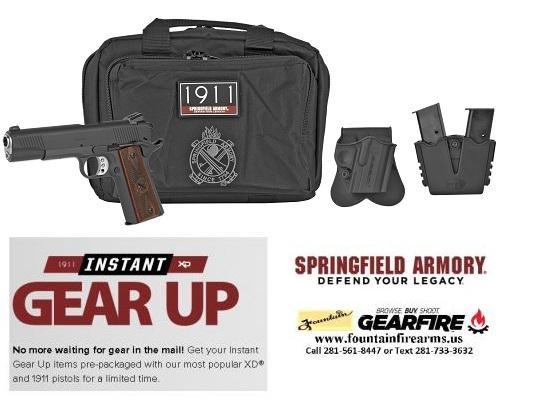 "GEAR UP Bonus!!! Springfield 1911 Loaded Pistol Gear UP Package 45 ACP 5"" Barrel 7 Pauperized Finish w Night Sights 💲💲Cash 849.95💲💲"