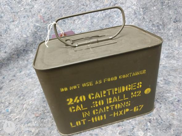 Collectible U.S. Military Surplus!!!! 30-06 M2 Ball Spam Can 240 RDS - Collectors Item 💲💲Cash $259.95💲💲
