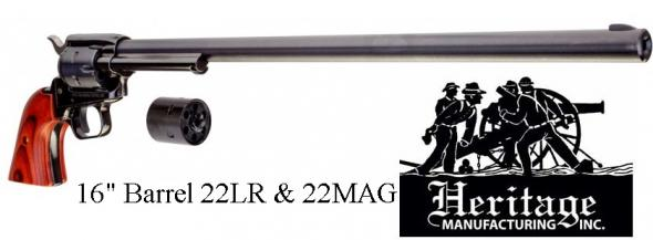 "Longer is Better!!!! ROUGH RIDER 22LR/22WMR BK 16"" 6RDS COCOBOLO Revolver 22LR/WMR 💲💲Cash $217.95💲💲"