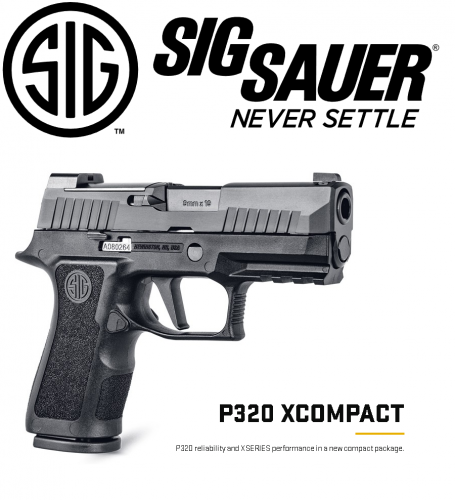"Awesome Carry!!! Sig Sauer, P320, X-Compact, Semi-automatic, Striker Fired, 9MM, 3.6"" Barrel, Polymer Frame, Modular X Grip, X-Ray 3 Night Sights With 3 Plates, Black Finish, 15Rd, 2 Magazines 💲💲Cash $639.95💲💲"