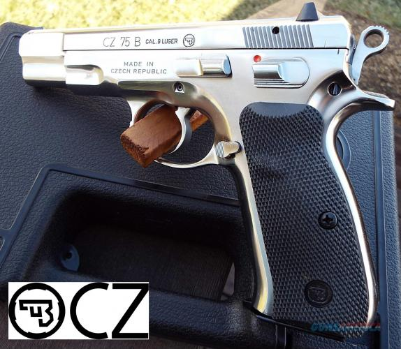 "Very Limited Production!!! CZ 75B 9mm ""Mirror High Polished Stainless Steel Finish"" 16 Round 💲💲Cash $789.95💲💲"