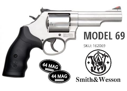 Mini 44Mag!!! Smith & Wesson 69 L-Frame .44 Magnum/.44 Special 4.25 Inch Stainless Steel Barrel Glass Bead Finish Adjustable Rear Sight 5 Round 💲💲Cash $749.95💲💲