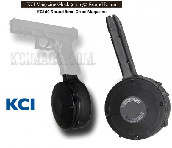 KCI USA, Drum, Magazine for GLOCK 9mm - 50 Round Drum 💲69.95💲Cash 💲💲