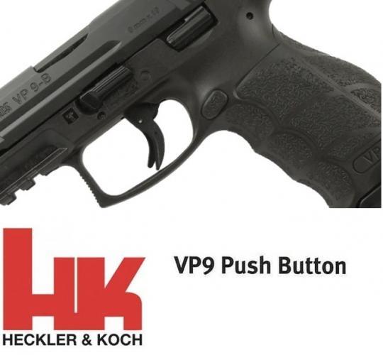 "Super Hot 2020!!! Heckler & Koch, VP9-B (Button), Striker Fired, 9MM, 4.09"" Barrel, Polymer Frame, Black Finish, 3 Dot Sights, 15Rd, 2 Magazines, Push Button Magazine Release 💲💲Cash $639.95💲💲"