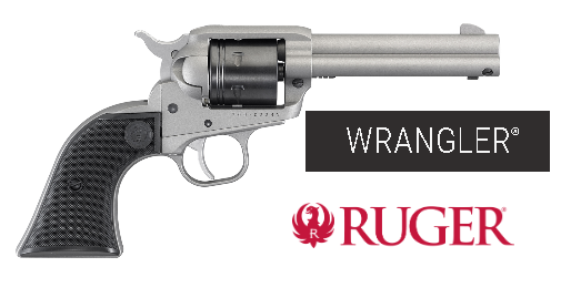 "Mega Hot! 2020!!! Ruger Wrangler 22 LR, 4.62"" Barrel, Aluminum Alloy Frame, Silver Cerakote Finish, Checkered Synthetic Grips, 6Rd, Weighs 30oz, Integral Notch Rear Sight/Blade Front Sight, Transfer Bar Safety - Cash Price $219.95"