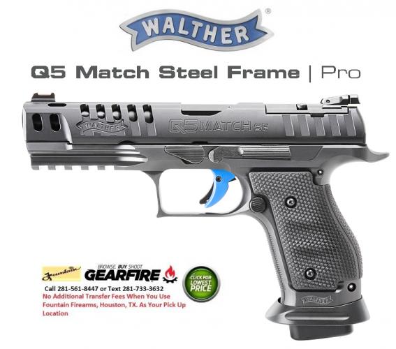 """MEGA Hot 2020!!! Walther PPQ Q5 Match SF PRO 9MM 5"""" barrel, Includes 3 Magazines 💲💲$1,579.95💲💲"""
