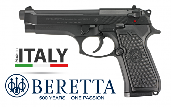 US Army Type!!! Beretta 92FS 9mm Double/Single Action 4.9 Inch Barrel Bruniton Matte Black Finish Plastic Grips Three Dot Sights 15 Round Made In Italy 💲💲Cash$499.95💲💲