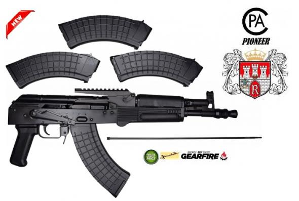 "New 2020!!! I.O. Inc. Hellpup Elite w Rail AK47 DRACO Pistol Type. 7.62X39 9"" Steel Black 30Rd Polish 💲💲Cash $599.95💲💲"