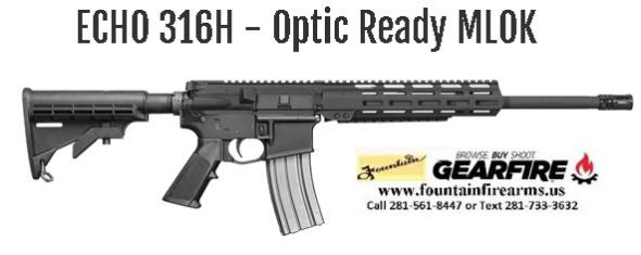 "Super Value!!! Del-Ton ECHO 316/H MLOK, Optics Ready AR15 223 Remington/5.56 NATO 30, 16"" Barrel, 30+1 Round, Hard Coat Anodized Black 💲💲Cash$549.95💲💲"