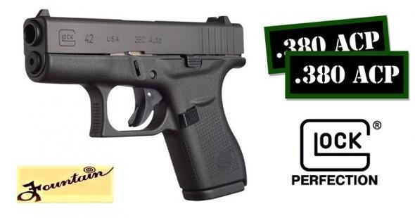 "Super Cash Priced!!! Glock 42 G42 380 ACP Pocket Carry Pistol 3.26"" Barrel 6 Rounds 💲💲Cash $346.95💲💲"
