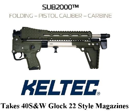 "KEL-TEC SUB 2000 2K GEN2 Nickel Boron OD GREEN SUB-2000 ""GLOCK 22 MAG WELL"" 9MM 16.1 INCH BARREL 💲💲Cash $439.95💲💲"