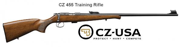 "Military Trainer!!! CZ 455 Training Bolt 22LR 24.8"" Blue Wood Hammer Forged 5Rd Adjustable Sights 02100 💲💲Cash $369.95💲💲"
