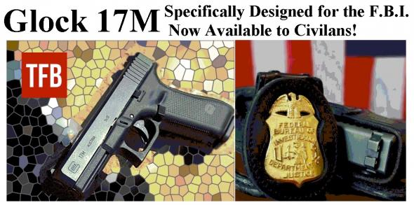 "Collectible FBI Contract Glock!!! Glock G17M 9mm, AB ""FBI"" Agent Sights 3-17rd Mags - Very Limited Availability - Contract Over Run 💲💲Cash $639.95💲💲"