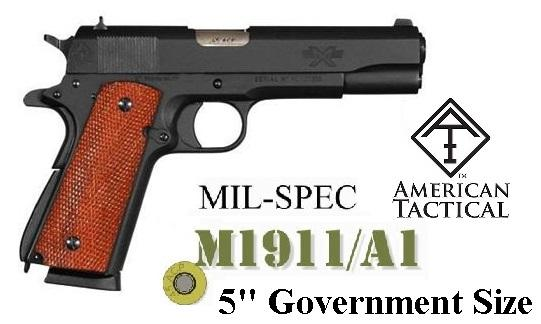 """ATI American Tactical FX45 Military 1911 .45ACP 5"""" BBL Colt Government Military Style Sights 7 Round 💲💲Cash $439.95💲💲"""