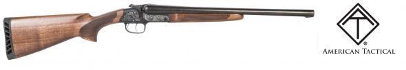 "ATI Road Agent Coach Side by Side Shotgun 12 Gauge 18.5"" Barrels 2 Rounds Engraved Receiver Wood Stock Matte Black💲💲Cash $439.95💲💲"