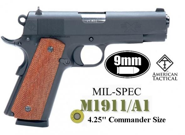"ATI GFX9GI FX9 Single 9mm 4.25"" 9+1 Mahogany Grip Black 💲💲Cash $419.95💲💲"