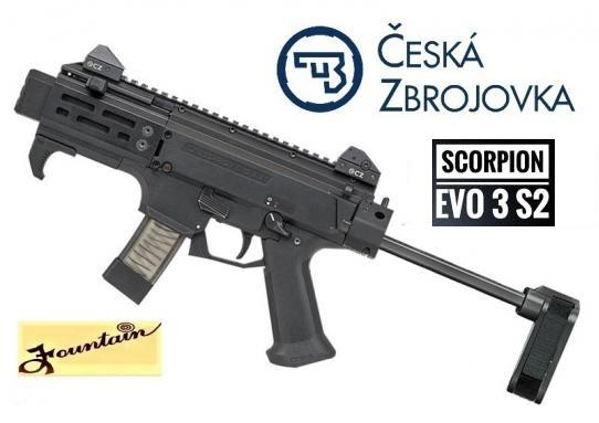 "Super Hot 2020!!! CZ MICRO Scorpion EVO 3 S2 with 4"" Barrel and Brace 9mm 💲💲Cash $1129.95💲💲"