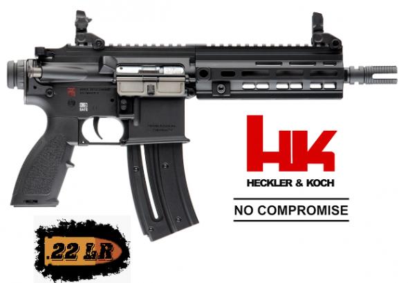 "Super Hot!!!! HK, HK416, 22LR, 8.5"" Threaded Barrel, Aluminum Frame, Black Finish, Synthetic Grip, 20Rd, 1 Mag, MLOK RIS Rail, Right Hand, Front/Rear Flip Sights 💲💲 Super Cash Price $379.95 💲💲"