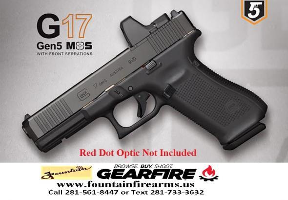 "Mega Hot 2020!!! Glock G45 M.O.S. 9MM, 4.02"" Marksman Barrel, Polymer Frame, Matte Finish, Fixed Sights, 17+1 Round, 3 Magazines, Front Serrations, Ambidextrous Slide Stop Lever, Flared Mag Well, nDLC Finished Slide and Barrel 💲💲💲💲Cash $629.95"