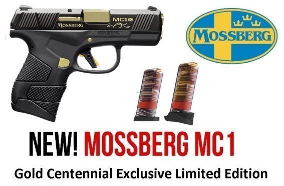 "Limited Production!!! Mossberg, MC-1 SC Centennial, Subcompact, 9MM, 3.40"" Barrel, 6+1 Round, Black Finish 💲💲Cash $529.95 💲💲"