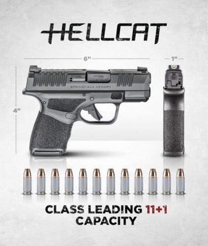 """MEGA HOT 2020!!! SPRINGFIELD HELLCAT 9MM SUPER COMPACT, 3"""" BBL & 13 RDS, TRITIUM FRONT SIGHT - STANDARD MODEL HC9319B 💲💲Cash $599.95💲💲"""