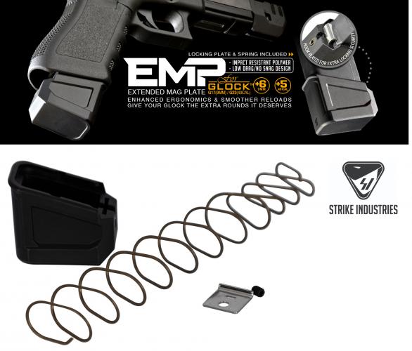 Hold More Ammo!!! Strike Industries, EMPG9&40 E.M.P Extended Magazine Plate for GLOCK™ G17(9mm)+6 / Glock 22(40cal)+5 💲💲Cash $16.95💲💲