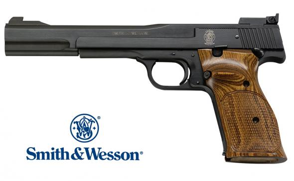 "Precision!!! Smith & Wesson Mod 41 22 LR 7"" 10+1 Adj Sight Wooden Target w/Thumbrest Grip Blue 💲💲Cash $1,274.95💲💲"