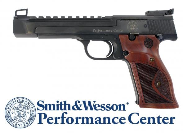 """Awesome!!! Smith & Wesson Model 41PC Performance Center 22LR 5.5"""" 10+1 Wood Target Grips Blued 💲💲Cash $1519.95💲💲"""