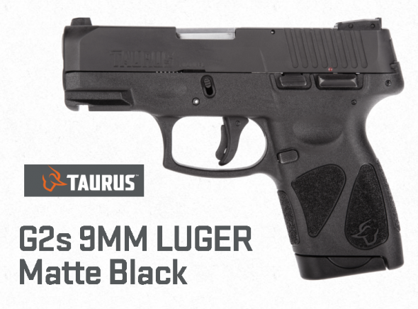 """Super Priced!!! Taurus, G2S, Single Action, Small Frame, 9mm, 3.25"""" Barrel, Polymer Frame, Blue Finish, Fixed Front Sight With Adjustable Rear, 7 Round, 2 Magazines 💲💲Cash $199.95💲💲"""