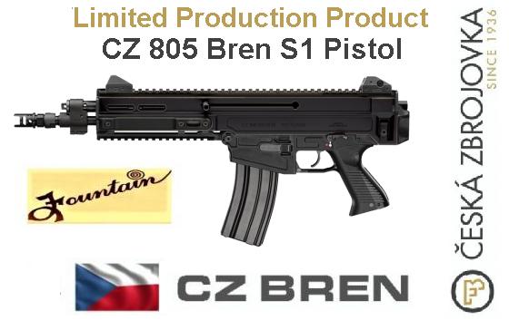Hard To Find!!! CZ 805 Bren PS1 Pistol .223 Remington/5.56mm 11 Inch Barrel Low-Profile Adjustable Sights Black 30 Round 💲💲Cash $1,499.95💲💲
