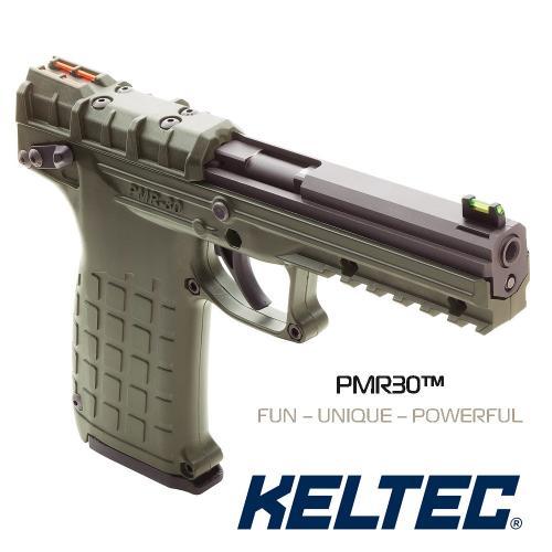 KEL-TEC PMR-30 OD GREEN .22 Winchester Magnum Rimfire 4.3 Inch Barrel Fiber Optic Sights Picatinny Rail Blue Slide Cerakote OD Green Grip/Frame 30 Round 💲💲Cash $359.95💲💲