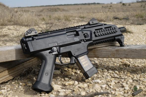 """Awesome!!! CZ USA Scorpion EVO 3 S1 9mm 7.72"""" 1/2x28 Threaded Barrel Low-Profile Fully Adjustable Aperture and Post Sights Fiber-Reinforced Polymer Frame Black 20 Round 💲💲Cash $839.95💲💲"""