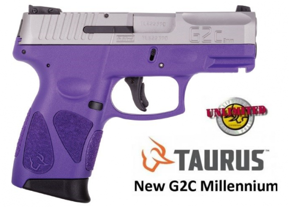 "Taurus, G2C2C, Double Action Only, Compact Pistol, 9MM , 3.2"" Barrel, Polymer Frame, Dark Purple Frame, Stainless Slide, Adjustable Sights, 12+1 Round, 2 Magazines💲💲Cash $239.95💲💲"