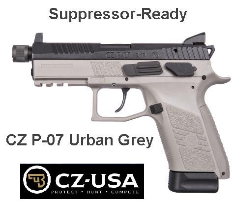 CZ-USA P-07 Urban Grey Suppressor-Ready Model - 9mm 4.5� Barrel, 17 Rounds 💲💲Cash $529.95💲💲