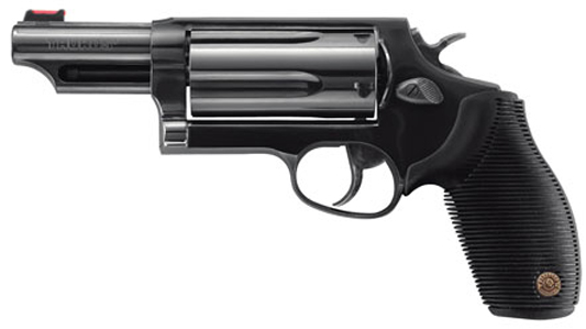 "$319+ Upgrade Laser & Taurus, Judge, 410 Gauge/45LC, 3"" Chamber, 3"" Barrel, Steel Frame, Black Finish, Rubber Grips, Fixed Sight, 5 Round"