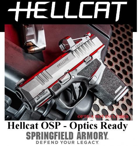 "MEGA HOT 2020 SPRINGFIELD HELLCAT OSP 9MM SUPER COMPACT, 3"" BBL & 13 RDS, TRITIUM FRONT SIGHT - OPS Optic Ready Model HC9319BOSP 💲💲Cash $649.95💲💲"