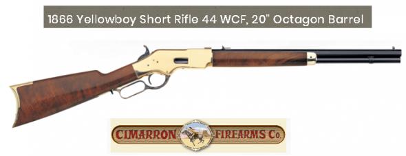"Short Rifle!!! Cimarron 1866 Yellowboy Lever Action  .44-40 Win 20"" Barrel 10 Rounds Brass Receiver Walnut Stock Blued CA231 💲💲Cash $1149.95💲💲"